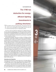 TPP-2012-03-The 179D tax deduction for energy- efficient lighting investments in parking structures