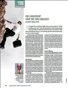 TPP-2012-07-On Leadership