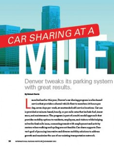 TPP-2013-11-Car Sharing at a Mile High