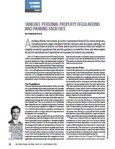 TPP-2013-11-Tangible Personal Property Regulations and Parking Facilities