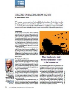 TPP-2014-02-Lessons on Leading from Nature
