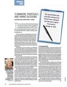 TPP-2014-04-Teamwork, Proposals, and Hiring Decisions