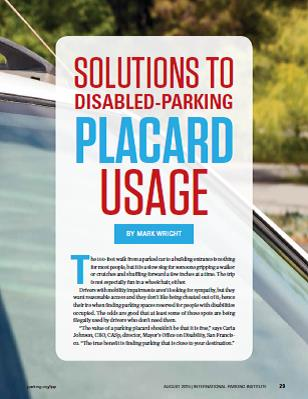 Solutions To Disabled Parking Placard Usage - Parking