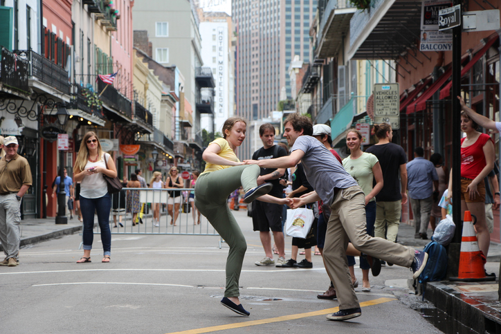 Swing Dancing, Royal Street, New Orleans, Louisiana - Parking