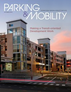 Cover of October 2019 Parking & Mobility magazine.