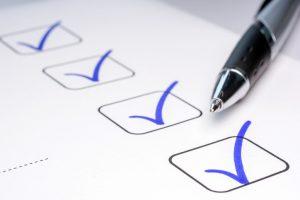 checklist of habits