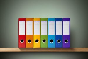 Color-coded binders