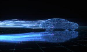 a futuristic car illustration