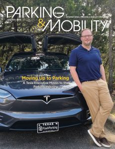 Cover of the January issue of Parking & Mobility magazine