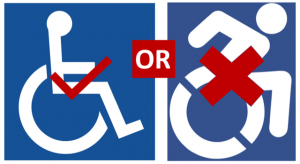 Accessible parking symbol