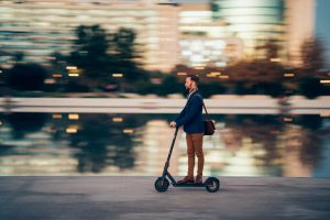 E-scooters are being used as transportation for hospital workers and first responders.