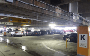 parking structure raining