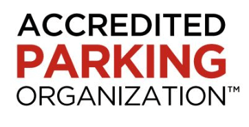 Accredited Parking Organization logo