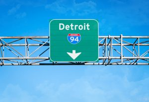 Sign reading Detroit 94