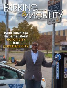 Cover of Parking & Mobility magazine, November 2020