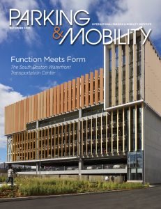 Cover of December 2020 Parking & Mobility magazine