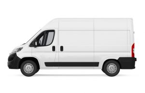 Generic white delivery truck