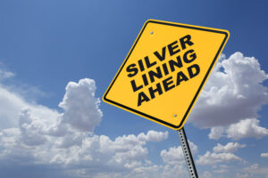A sign indicating a Silver Lining Ahead.