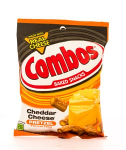 Bag of Combos in cheddar cheese flavor