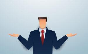businessman in doubt,